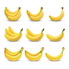 Banana realistic isolated, Banana Vector illustration. Realistic illustration
