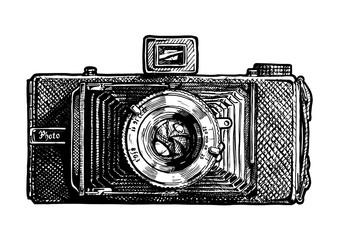 Wall Mural - illustration of folding camera