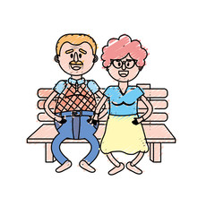 old couple in the chair with hairstyle