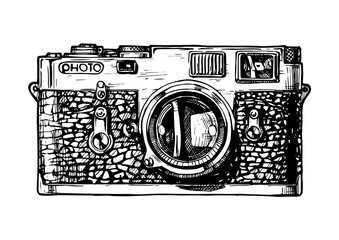 illustration of rangefinder camera