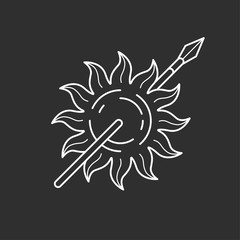 Sun and spear icon