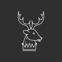 Deer head and crown