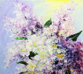 Bouquet of gentle lilac
