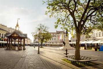 Rynek starego miasta w Rzeszowie Fotoväggar