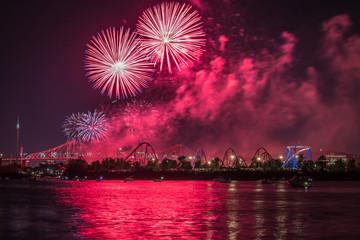 Fireworks Over St Lawrence River