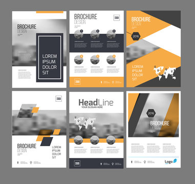 1061505 Six flyer marketing templates with photo, text and map