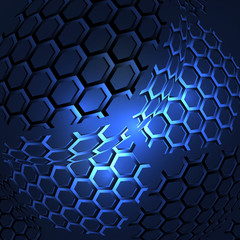 Icon honeycomb vector Abstract background hexagon