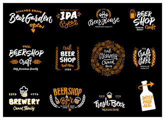 Beer logotype set