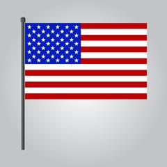 vector flat design USA flag icon