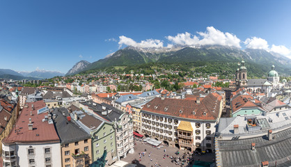 Old Town of Innsbruck with golden roof, Austria