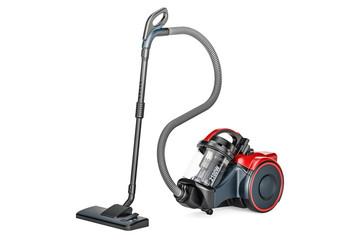Modern vacuum cleaner, 3D rendering