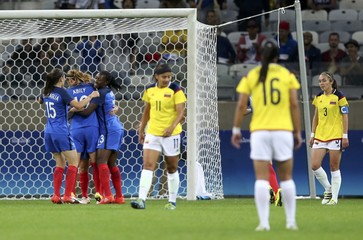 Football - Women's First Round - Group G France v Colombia