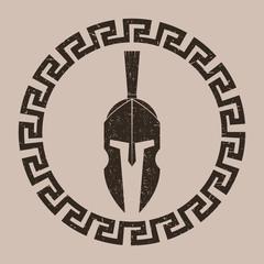 Spartan helmet design. Vector.
