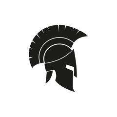 Spartan helmet. Vectot. Flat design.