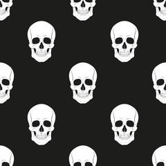 Skull  seamless pattern. Vector.