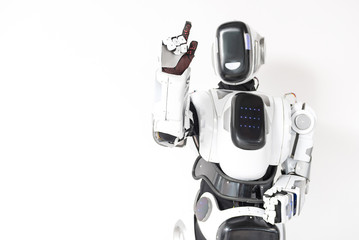 Robot is working with unseen touchscreen