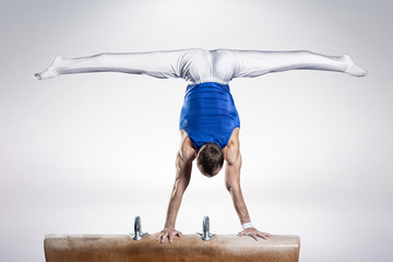 Autocollant pour porte Gymnastique portrait of young man gymnasts