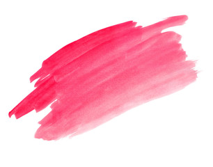 A fragment of the crimson background painted with watercolors
