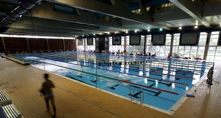 A general view of the swimming pool of Pinheiros club, where the Chinese Olympic team will be training before the Rio Olympics, in Sao Paulo, Brazil