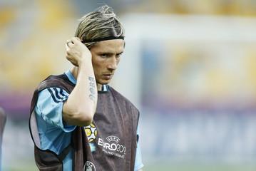 Spain's Fernando Torres during training