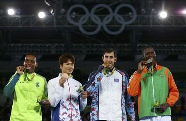 Taekwondo - Men's +80kg Victory Ceremony