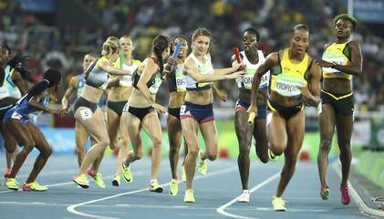 Athletics - Women's 4 x 400m Relay Round 1