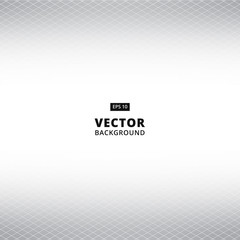 Abstract White and gray grid perspective background. Vector