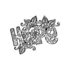 H0pe decorative lettering.