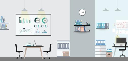 Office interior illustration vector