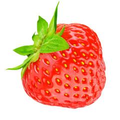 Ripe strawberry isolated