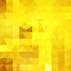 Abstract background consisting of yellow triangles. Geometric design for business presentations or web template banner flyer. Vector illustration