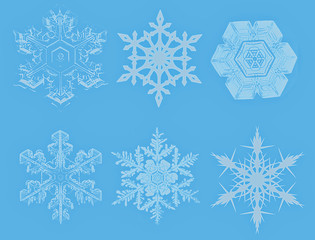 Snowflake on blue