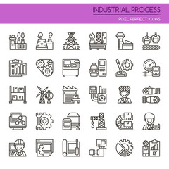 Industrial Process , Thin Line and Pixel Perfect Icons.