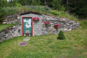 Door to undergroud bunker