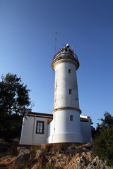 Gelidonya lighthouse in Karaoz, Antaly, Turkey; June 2017
