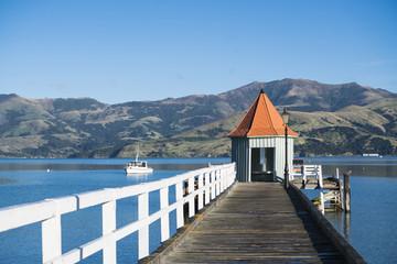 The landmark of Akaroa, Daly's Wharf