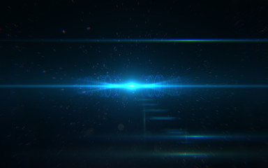 abstract thick lens flare light over black background