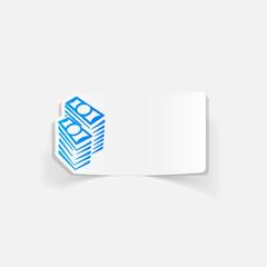 realistic design element: money