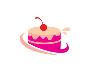 Cake Store Logo Template Design Vector, Emblem, Design Concept, Creative Symbol, Icon