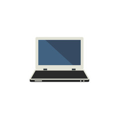 Isolated Laptop Flat Icon. Notebook Vector Element Can Be Used For Laptop, Computer, Notebook Design Concept.