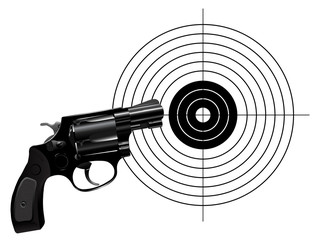 Revolver and target