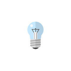 Flat Icon Light Element. Vector Illustration Of Flat Icon Bulb Isolated On Clean Background. Can Be Used As Bulb, Light And Bright Symbols.