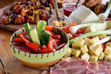 Traditional Romanian breakfast food