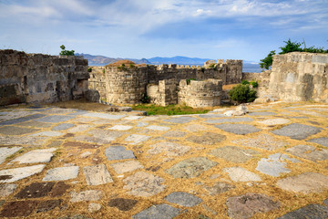 Fortress of Neratzia Castle ruins in Kos island, Greece.