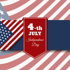 Fourth of july independence day card for your design eps 10