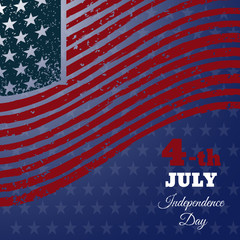 Banners with american flag rertro design eps 10 vector