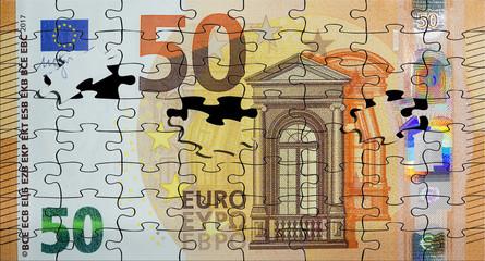 Puzzle billete de 50 euros