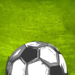 soccer ball on the field easy all editable