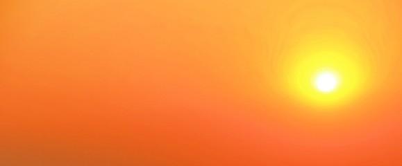 Hot sky / Big sun in orange sky