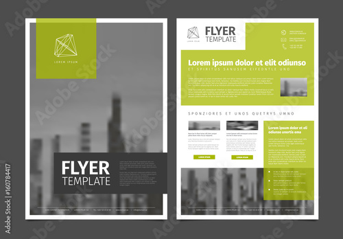 Modern Brochure Template Flyer Design Vector Template Stock Image - Modern brochure template